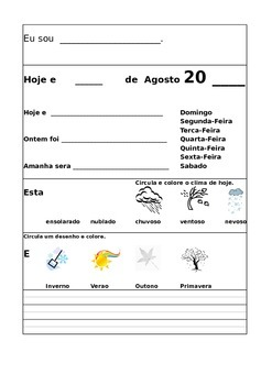 Portuguese Morning Work August/Agosto
