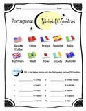 Portuguese Names Of Countries Worksheet Packet