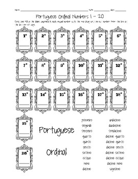 Portuguese ordinal numbers 1 20 worksheet by sunny side up resources portuguese ordinal numbers 1 20 worksheet ibookread Read Online