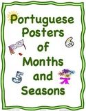 Portuguese Posters or Cards of the Months and the Four Seasons