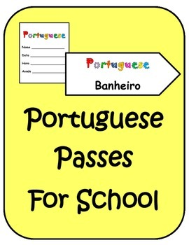 Portuguese Back to School Hall-Classroom Passes
