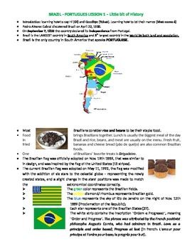 Portuguese lesson 1