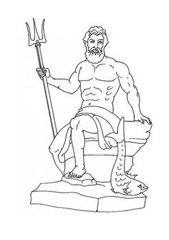 Poseidon Greek Gods Word Search