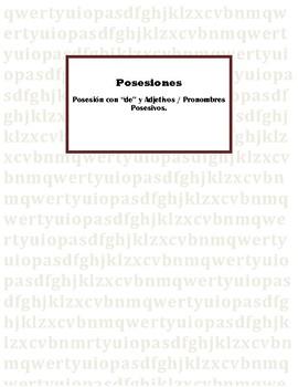 """Posesiones con """"de"""" y Adjetivos / Pronombres Posesivos."""