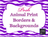 Posh Animal Print Clip Art Set for Commercial Use