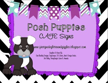 Posh Puppies CAFE Signs
