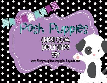 Posh Puppies Classroom Decorative Set