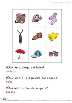 Posiciones de Objetos en Cuadrícula (Habilidades de Percepción Visual)