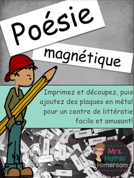 Poésie magnétique (Magnetic Poetry Kit in French)