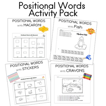 Positional Words Activity Pack
