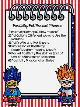 Positivity Pals Character Education Plan