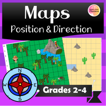 Position & Direction Coordinates on Maps Bundle