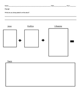 Position Paper Graphic Organizer