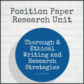 Research Paper - Position Paper Unit