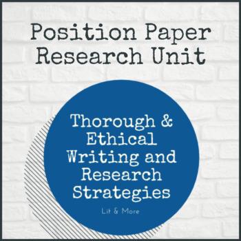 Research Paper - Position Paper Unit
