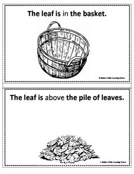 Position Word Booklet-Where is the Leaf?
