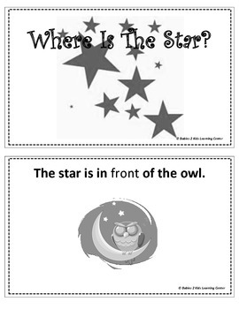 Position Word Booklet-Where is the Star?