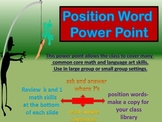 Position Word Power Point Slide and Math Skills Review