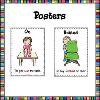 Position Words Center Activities and Worksheets