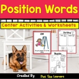 Position Words Activities and Worksheets | Math Centers |