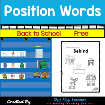 Position Words Activities and Worksheets | Math Centers | Back to School | Free