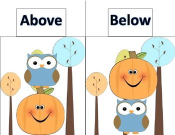Position Words Literacy Center Practice Activity Common Core