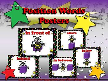 Position Words Posters - Superstar Theme - King Virtue