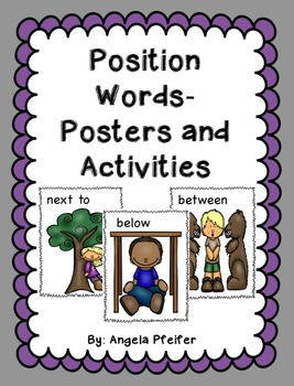 Position Words: Posters and Activities