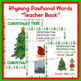 Position Words~Prepositional Phrases~Rhyming~PK-1~ Christmas Tree