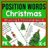 Position Words Prepositional Phrases and Rhyming PK-1 Christmas Tree