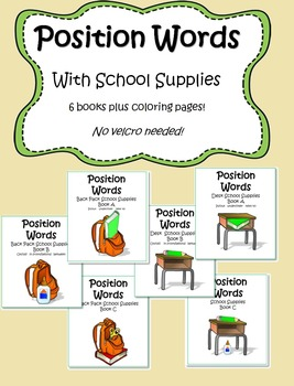 Position Words! School Supplies