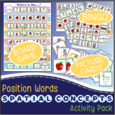 Position Words {Spatial Concepts} Pack - Board Game, Bingo, Picture Cards