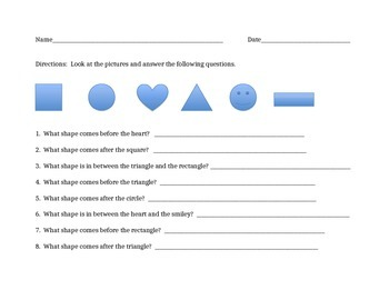 Position Words Worksheet