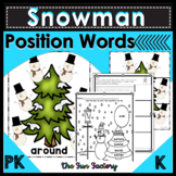 Position Words and Puzzles Winter PK and Kindergarten, Speech Therapy