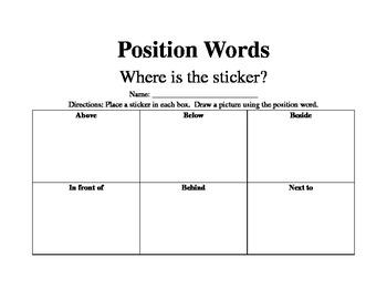 Position Words sticker fun
