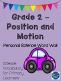 Position and Motion - Personal Word Wall