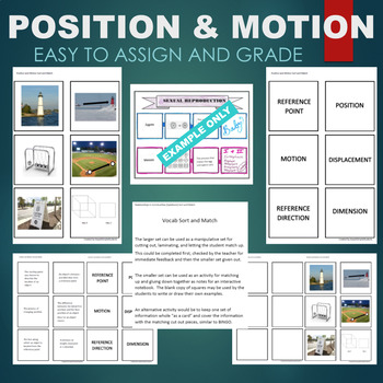 Position and Motion (Reference Direction, Dimension, etc) Sort & Match Activity