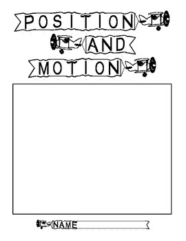 Position and Motion Workbook Cover Page