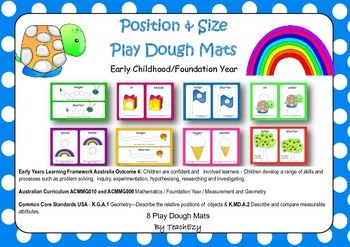 Position and Size Play Dough Mats