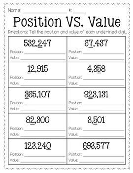 position vs value freebie by barnard island teachers pay teachers. Black Bedroom Furniture Sets. Home Design Ideas