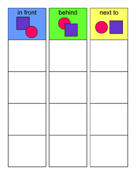 Positional Concepts SORTING Activity, SPEECH THERAPY, Autism, Language