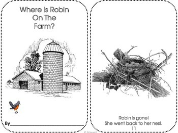 Positional Concepts Where Is Robin On The Farm?