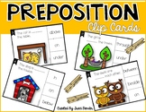 Positional, Directional, Prepositional Word Clip Cards