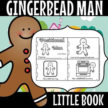 Positional Gingerbread man little book.(50% off for 48 hours)