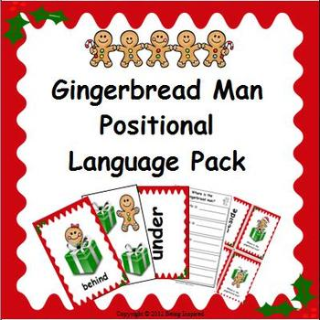 Positional Language Flashcards and Activity Pack - Christmas themed