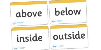 Positional Language Word Cards (Simple)