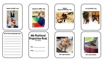 Positional Preposition Mini Book