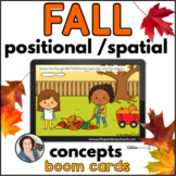 FALL Positional / Spatial Basic Concepts | BOOM CARDS™