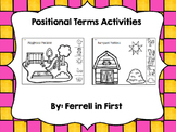 Positional Terms Listening Activities