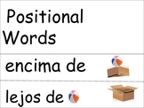 Positional Vocabulary Cards Spanish